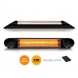 Incalzitor terasa Veito Blade 2kW, Carbon, IP55, Aluminiu, Telecomanda, Afisaj LED, buton Touch, Negru