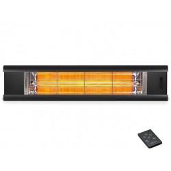 Incalzitor terasa Veito AERO S Touch 2,5kW, Carbon, IP44, Aluminiu, Telecomanda, Afisaj LED, Weatherproof