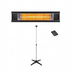 Incalzitor cu Stand Veito AERO S 2,5kW, fibra Carbon, Aluminiu, Telecomanda, Afisaj LED, 4 Trepte, IP44