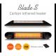 Incalzitor terasa cu fibra de carbon Veito Blade S Black 2,5kW